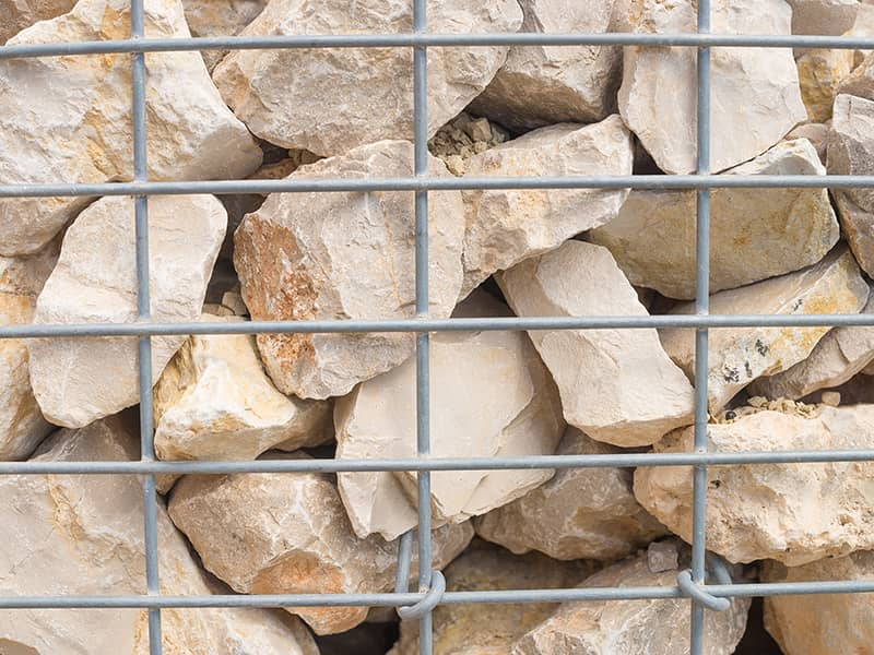 Gabions for protecting against erosion